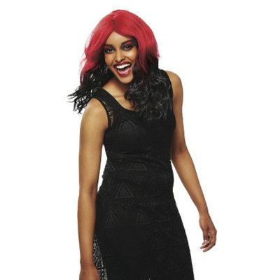 Seasonal Designs High Voltage Wig 4 Asst - Hot Pink/Black, Red/Black, Purple/White,