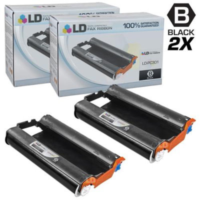 LD Compatible Replacements for Brother PC301 Set of 2 Fax Cartridges With Roll for use in Brother FAX 885MC, Intellifax 750, 770, 775, 870MC, 885MC, and MFC-970MC Printers