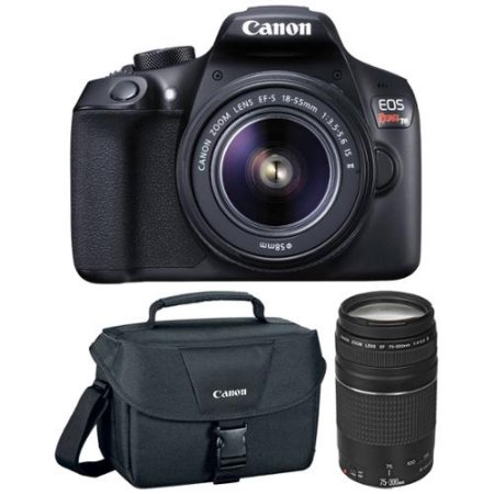 Canon - Eos Rebel T6 Dslr Camera With Ef-s 18-55mm Is Ii And Ef 75-300mm Iii Lens