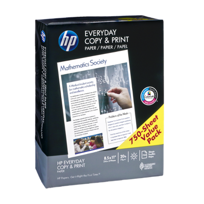 HP Everyday Copy & Print Paper Value Pack - 750 CT