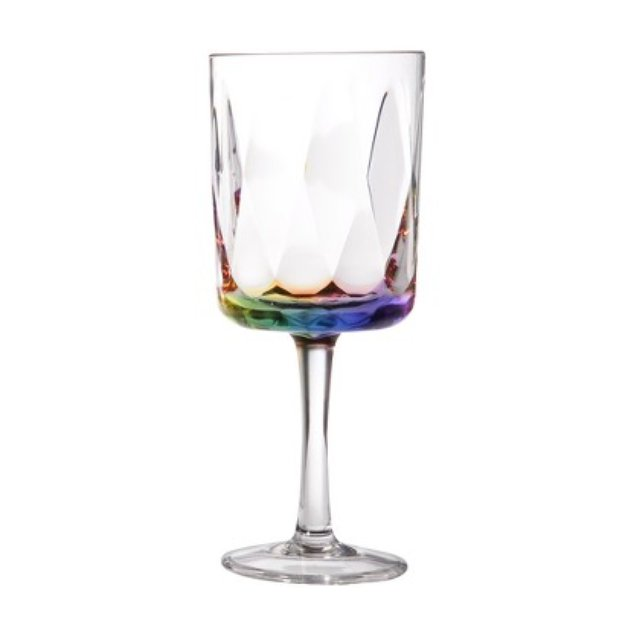 Diligence Inc Acrylic Wine Glasses Set of 4 - Rainbow