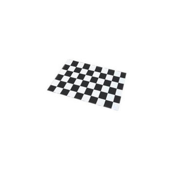 Cats Rule 00653 Perfect Litter Mat - Black And White Check