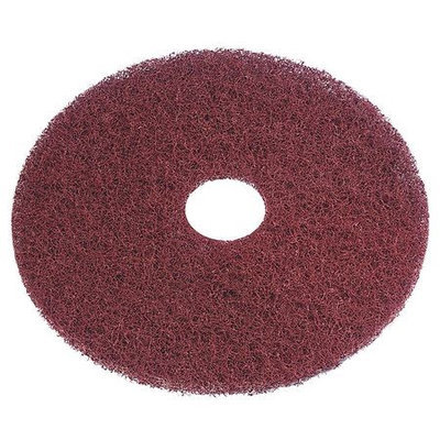 TOUGH GUY 6XZV9 Recycled Stripping Pad,13In, Burgundy, PK5