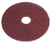 TOUGH GUY 6XZW3 Recycled Stripping Pad,19In, Burgundy, PK5
