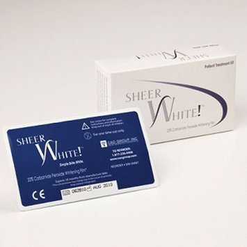 Sheer White! 20% Professional Teeth Whitening Strips Films Kit