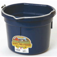 Miller Mfg Inc Miller Mfg Co Inc Flat Back Plastic Bucket- Navy 8 Quart - P8FBNAVY