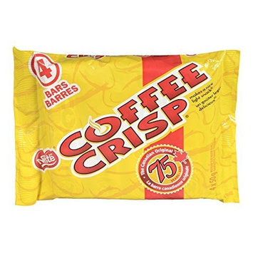 Nestlé Coffee Crisp Canada Candy Coffee Crisp Chocolate Bar 4 x 50gram Bars. Imported from Canada.