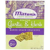 Milton's Crackers - Garlic Herb, 8-Ounce (Pack of 6)