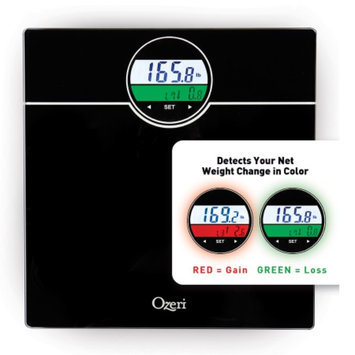 Ozeri WeightMaster Bath Scale with BMI & Weight Change Detection up to 400 lbs