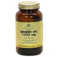 Solgar Linseed Oil Supplement, 1250 mg, 90 Count
