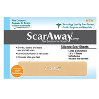 ScarAway 1.5in X 7in Fabric-Backed Silicone Scar Sheets