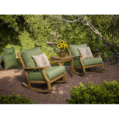 David Shaw Silverware Na Ltd Peak Season Bungalow 3 pc Rocking Chair Set