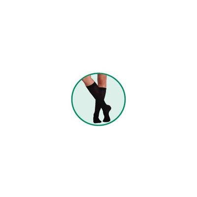 Juzo Basic Ribbed Knee High Short Closed Toe 30-40mmHg, V, White