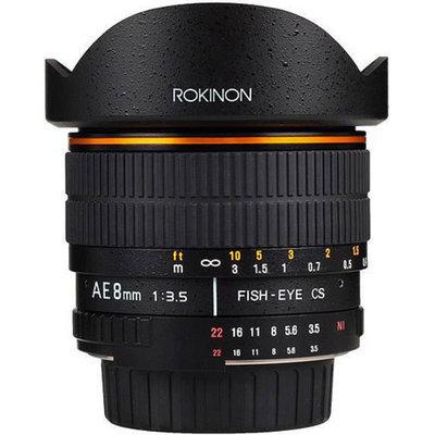 Rokinon 8mm F3.5 Fisheye Lens for Nikon AE with Automatic Chip