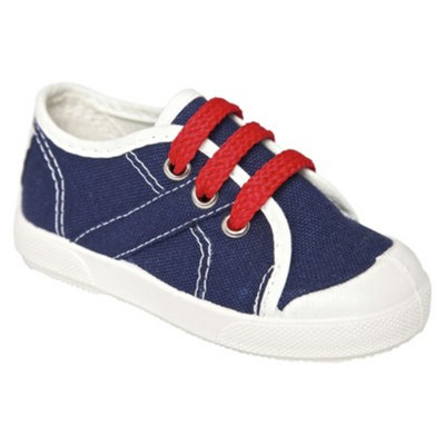 Toddler Boy's United Shoes of America Timmy Sneakers - Navy Base 5