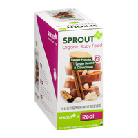 Sprout Organic Baby Food Sweet Potato, White Beans & Cinnamon - 5 CT