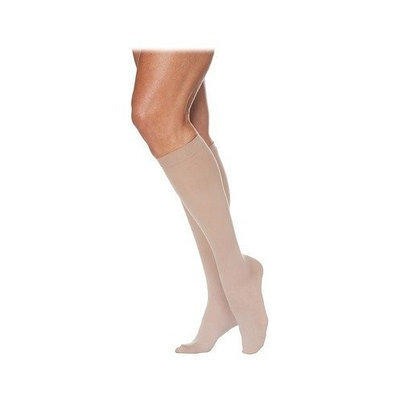 Sigvaris 780 EverSheer 20-30 mmHg Women's Closed Toe Knee High Sock Size: M3, Color: Mocha 85