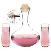 Cathy's Concepts Personalized Wedding Wine Unity Ceremony Set with Letter Y