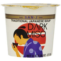 San-J Dark Miso Soup Cup, 0.96-Ounce Cups (Pack of 12)