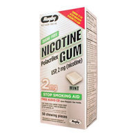 RUGBY NICOTINE GUM 2MG MINT NICOTINE POLACRILEX-2 MG off white 50 CT UPC