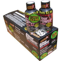 Stacker 2, Six Hour Power Energy Shot Bottles, Extra Strength Grape, 2-count (Pack of 6)