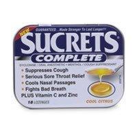 Sucrets Complete Cough Drops-Cool Citrus-18 ct
