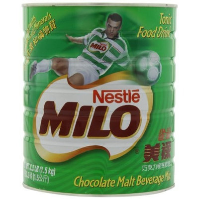 Nestlé Milo Chocolate Beverage Mix Jumbo, 3.3-Pound Cans (Pack of 2)
