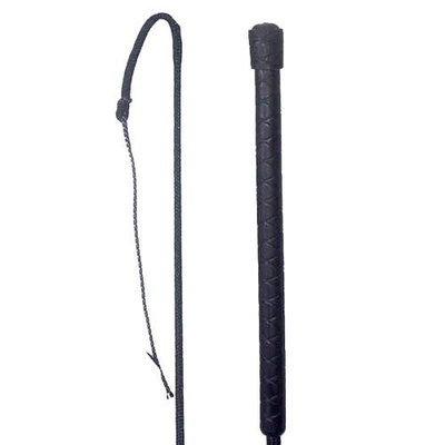 Imported Horse & Supply Intrepid International . 48 Rubber Grip Handle Stockyard Whip with Lash Ends