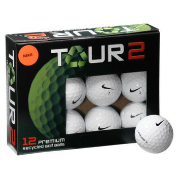 Nike Crush Recycled 12 Pk Golf Balls-White