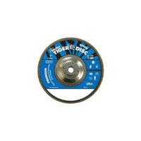 Weiler 804-50541 7 inch 24Grit Zirconium Tiger Disc Abrasive Fl