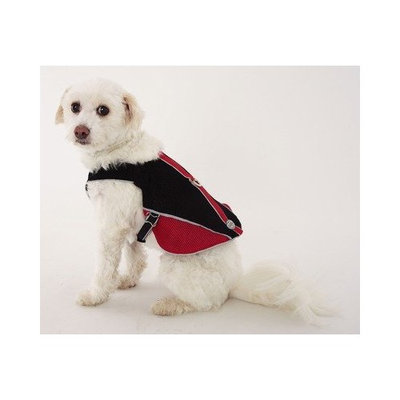 Doggles Dog Wear Reflective Mesh Vest Harness Size: XS, Color: Red and Black