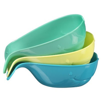 Munchkin 3pk Pour & Strain Whales Baby Bath Accessory