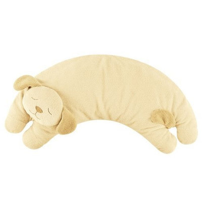 Angel Dear Curved Pillow, Light Brown Puppy