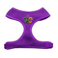Mirage Pet Products 73-31 SMPR Mardi Gras Fleur de Lis Chipper Purple Harness Small