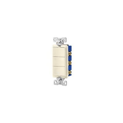 Cooper Lighting Cooper Wiring 7729A-SP Decorative Almond Triple Switch