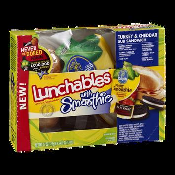 Lunchables With Smoothie Turkey & Cheddar Sub Sandwich