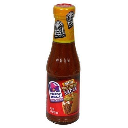 Taco Bell Restaurant Sauce, Mild, 7.5-Ounce Glass Bottles (Pack of 12)