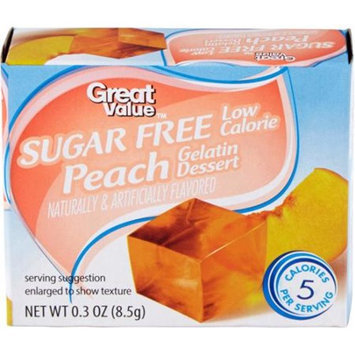 Great Value: Sugar Free Peach Gelatin Dessert, .3 Oz