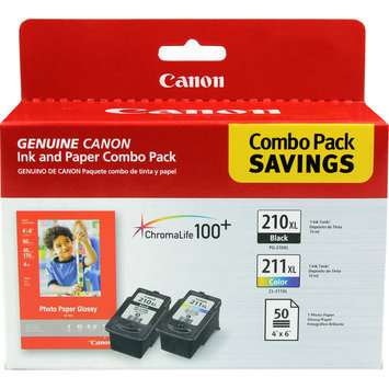 Canon 2973b004 Ink And Paper Combo Pack (pg210cl211)