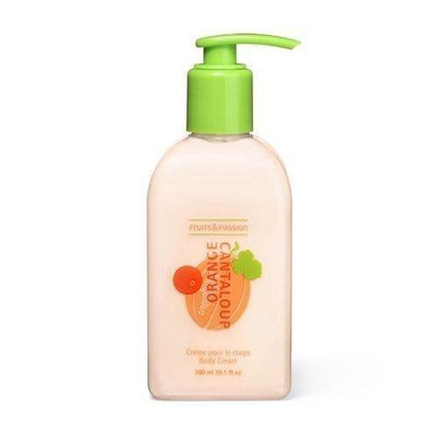 Fruits & Passion Body Cream, Orange-Cantaloup, 10.1-Ounce Bottle