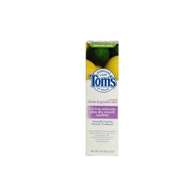 Toms Of Maine TOM'S OF MAINE Toothpaste Clean&Gentle Care SLS-free Anticavity for Dry Mouth Lemon Lime 5.2 oz