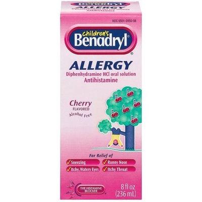 Benadryl Child Cherry Allergy Syrup- 8 Fl oz