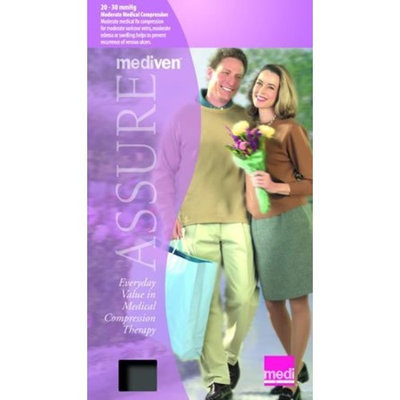 Mediven Assure, Closed Toe, with top band, 20-30 mmHg, Thigh High Compression Stocking, Small, Black