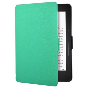 Insten INSTEN Baby Blue eReader Leather Shell PU Leather Case Cover For Amazon Kindle Voyage 6