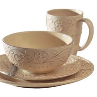 Jay Import Bianca Cream 16-pc. Dinnerware Set