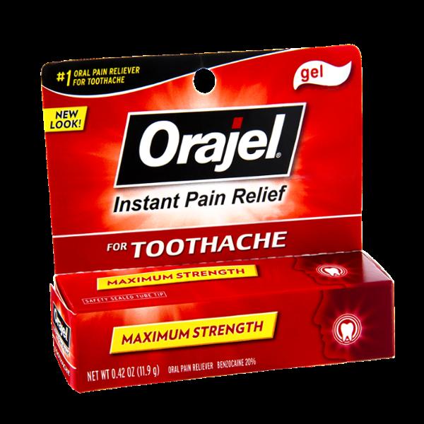 Orajel Maximum Strength Toothache Instant Pain Relief Gel