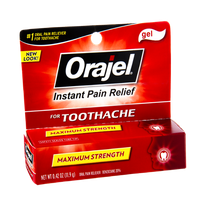 Orajel Maximum Strength Toothache Instant Pain Relief Gel