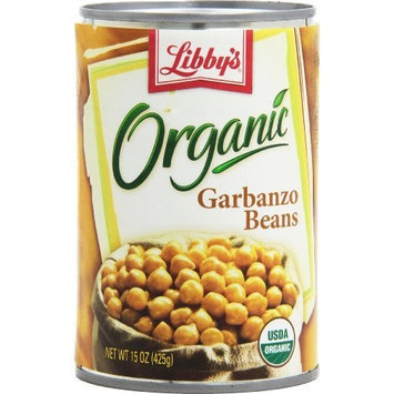 Libbys Libby's Organic Garbanzo Beans, 15-Ounces Cans (Pack of 12)