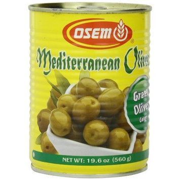 Osem Mediterranean Green Olives (Kosher for Passover), 18 Ounce (Pack of 12)