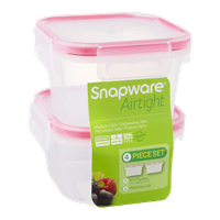 Snapware Airtight Mini Square/Matching Lids - 4 Piece